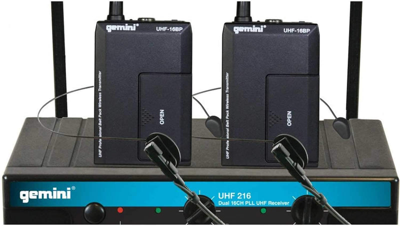 Gemini UHF-216HL UHF Wireless Lav & Headset Mic - PSSL ProSound and Stage Lighting