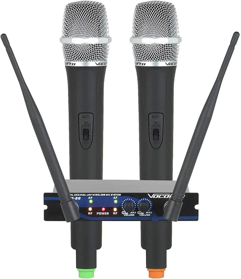 VocoPro UHF-28-9 Dual Channel Wireless Mic System - PSSL ProSound and Stage Lighting