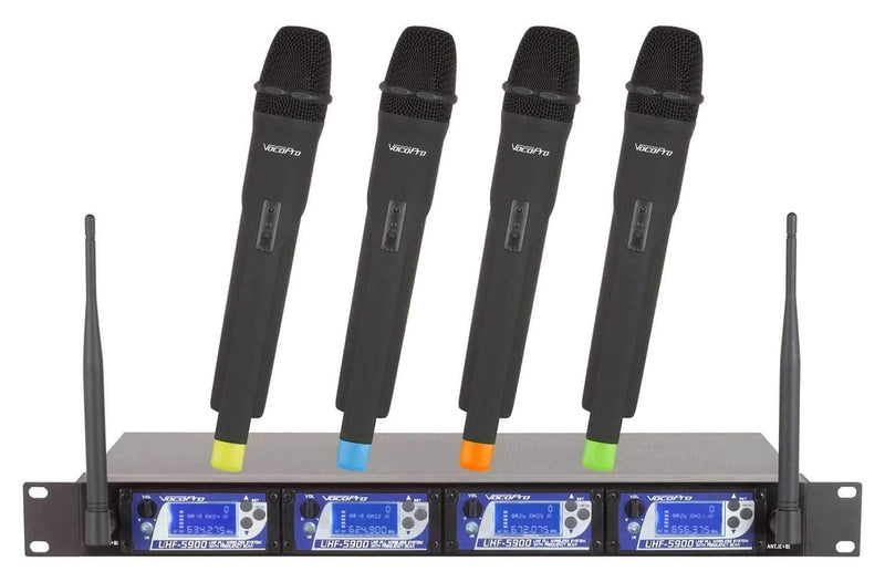 VocoPro UHF-5900 UHF Wireless System with Freq Scan - PSSL ProSound and Stage Lighting
