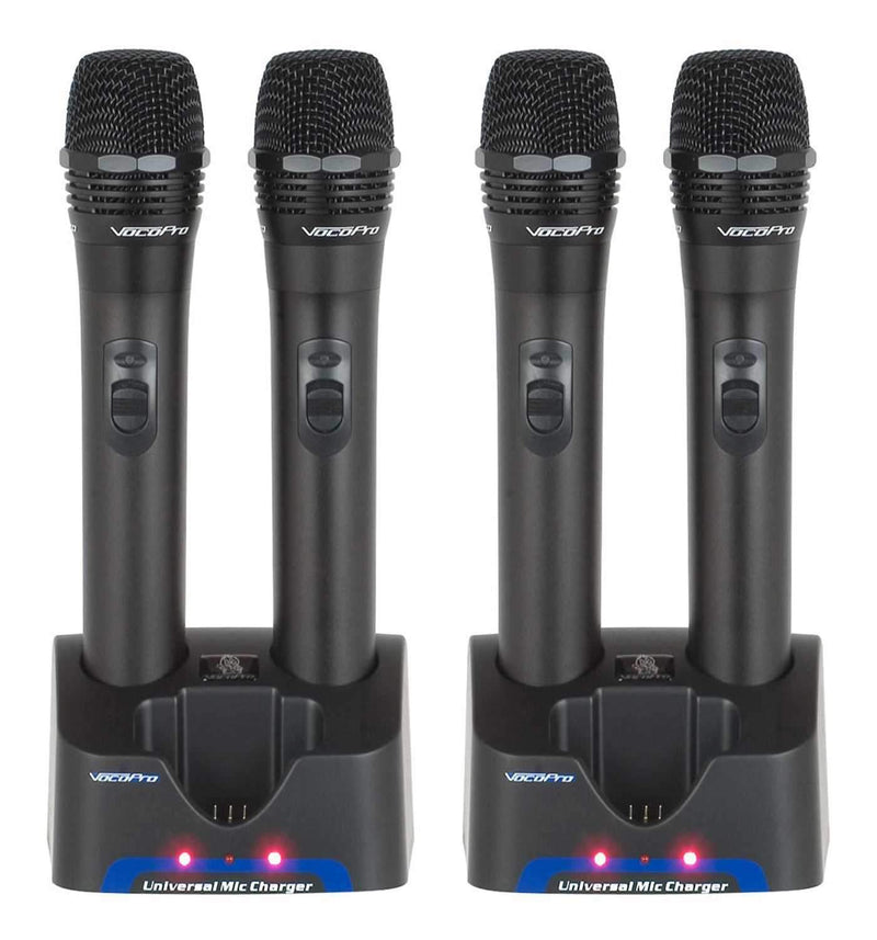 VocoPro Rechargeable Mics (4) for UHF Wireless System - PSSL ProSound and Stage Lighting