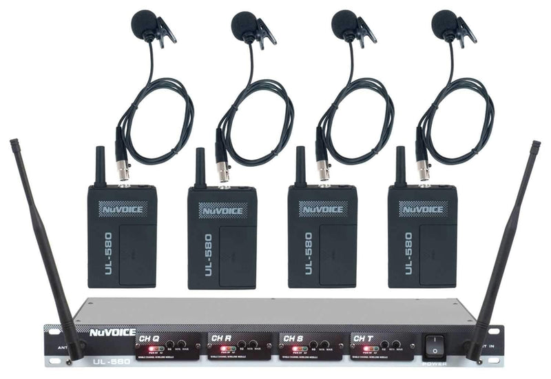 Vocopro UHF 4 Ch Wireless Lavalier Microphone - PSSL ProSound and Stage Lighting