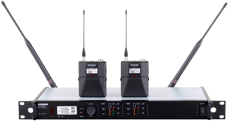 Shure ULXD14D Dual Digital Wireless Bodypack System - PSSL ProSound and Stage Lighting