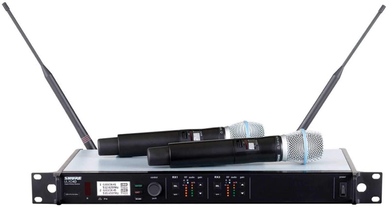 Shure ULXD24DB87A Dual Digital Handheld Wireless Mic with Beta87A - PSSL ProSound and Stage Lighting
