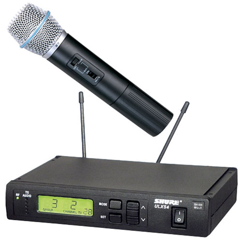 Shure ULXS24BETA87A UHF Hnd Wireless Mic with Beta87A - PSSL ProSound and Stage Lighting