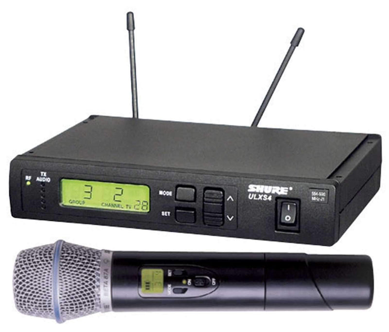 Shure ULXS24BETA58 UHF HH Wireless Mic Beta58 G3 - PSSL ProSound and Stage Lighting