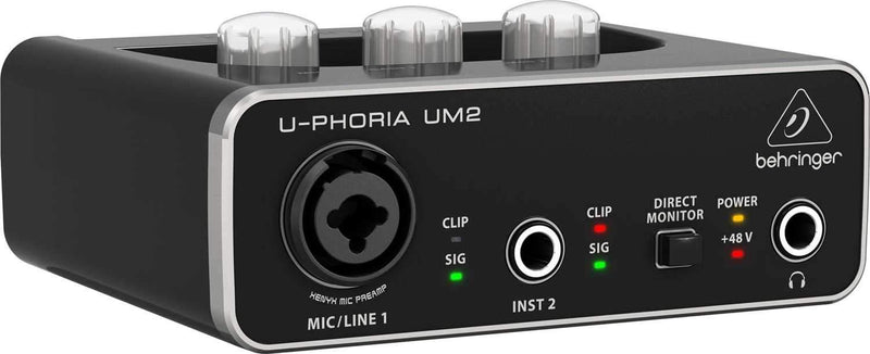 Behringer U-Phoria UM2 2x2 USB Audio Interface - PSSL ProSound and Stage Lighting