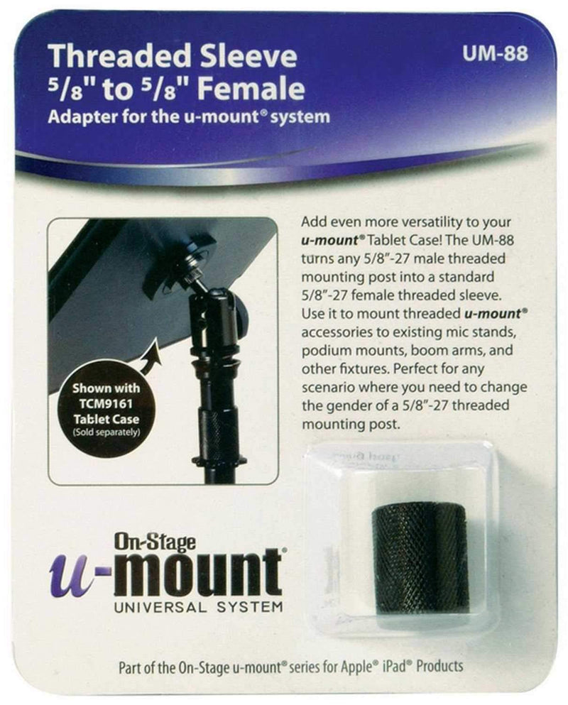 On Stage UM88 Female 5/8 Flange Gender Changer - PSSL ProSound and Stage Lighting