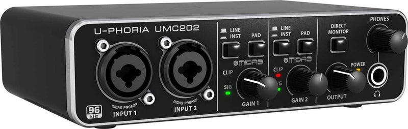 Behringer U-Phoria UMC202 2x2 USB Audio Interface - PSSL ProSound and Stage Lighting