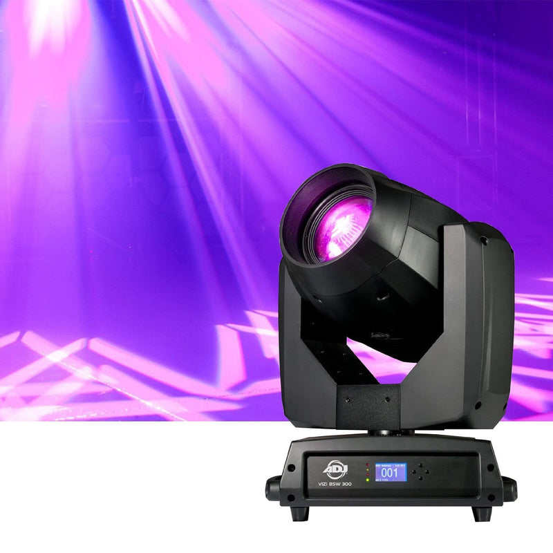 ADJ American DJ Vizi BSW 300 Beam, Spot, & Wash LED Moving Head Light - PSSL ProSound and Stage Lighting