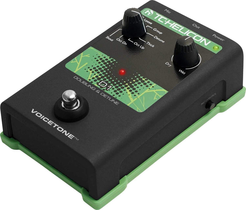 TC Helicon Single-Button Stompbox for Realistic Vocal Doubling Effects - PSSL ProSound and Stage Lighting
