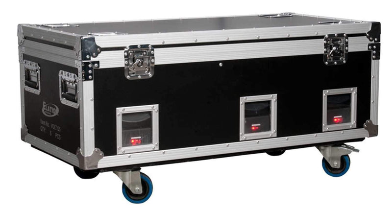 Elation Charging Road Case with 6 Volt Q5E LED's - PSSL ProSound and Stage Lighting