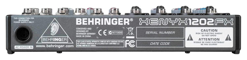 Behringer Xenyx 1202 12-Input 2-Bus Audio Mixer - PSSL ProSound and Stage Lighting