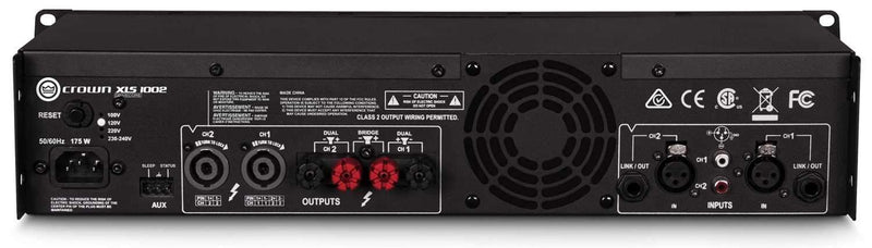 Crown XLS1002 XLS DriveCore 2 PA Power Amplifier - PSSL ProSound and Stage Lighting