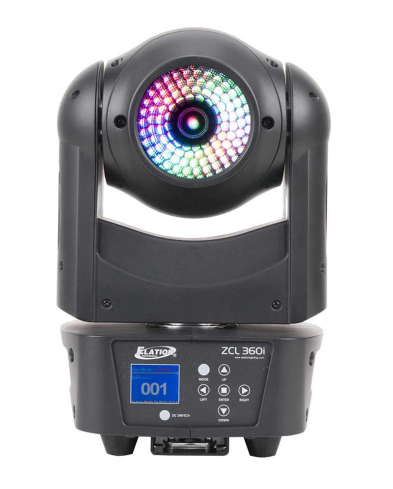 Elation ZCL 360i 90-Watt RGBW LED Moving Head Light - PSSL ProSound and Stage Lighting