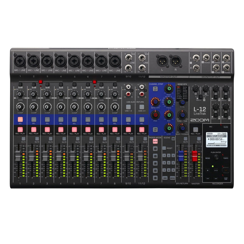 Zoom LiveTrak L-12 Live Digital Mixer & Recorder - PSSL ProSound and Stage Lighting