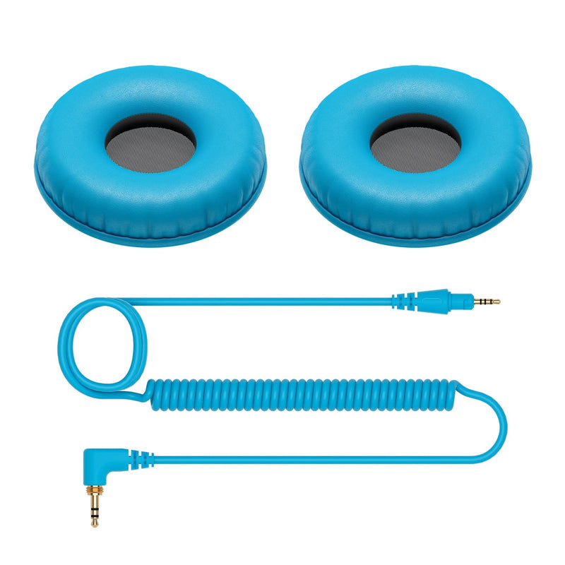 Pioneer CUE1 Series HC-CP08 Accessory Pack Ear Pads and Cable - Blue - PSSL ProSound and Stage Lighting