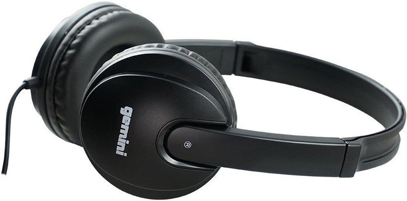 Gemini DJX-200-BLK Professional DJ Headphones - ProSound and Stage Lighting