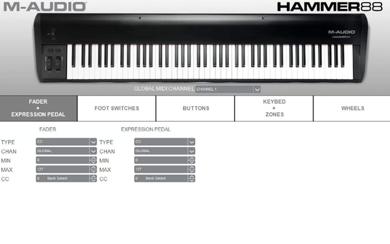M-Audio Hammer 88 | 88 Key Hammer-Action Keyboard - PSSL ProSound and Stage Lighting