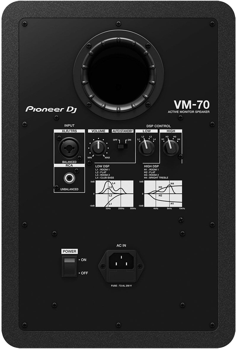 Pioneer DJ VM-70 6.5-Inch Active Studio Monitor - ProSound and Stage Lighting