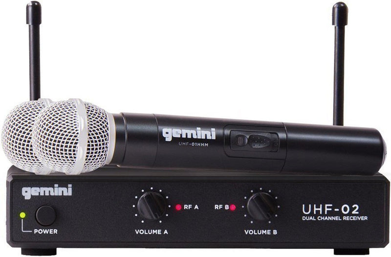 Gemini UHF-02M-S34 UHF Handheld Wireless System - ProSound and Stage Lighting