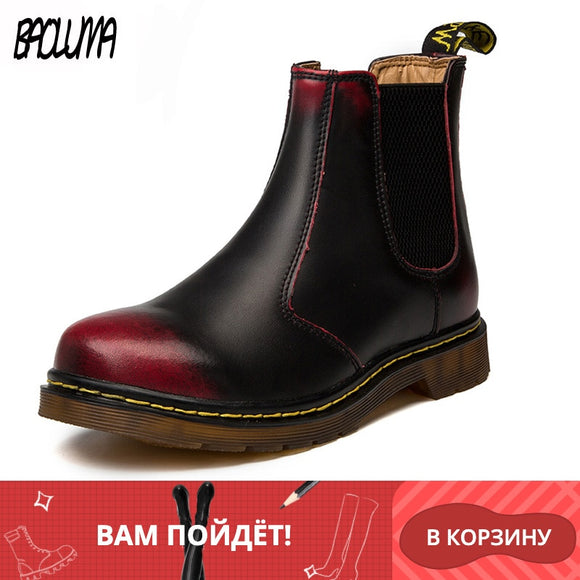 Classic Men Boots Italy Handmade Men Chelsea Boots Designer Autumn Winter Wedding Party Women Ankle Boots Waterproof 35-46