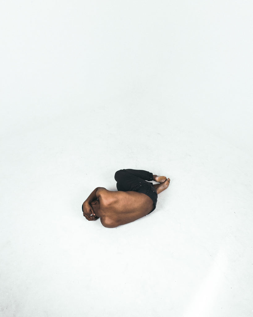 Man crying on the floor
