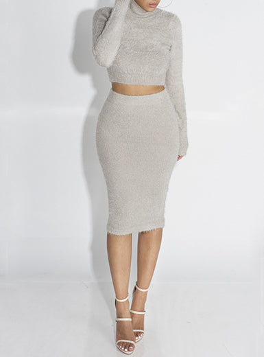 Gray two-piece cozy set