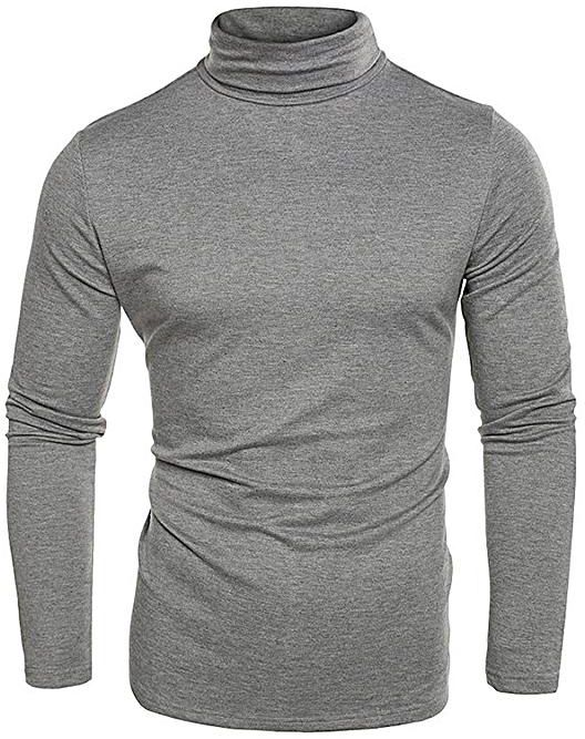 Gray Polo-neck T-shirt