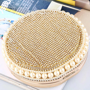 Chic Rhinestone round bag
