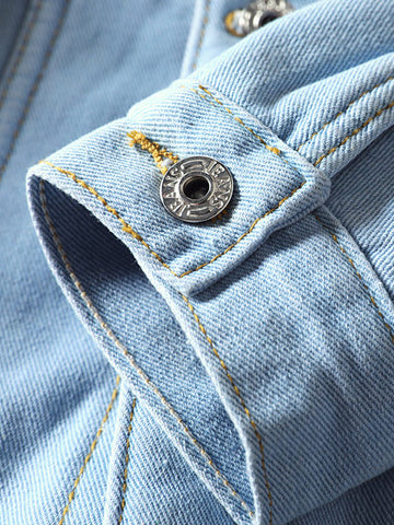 Men Denim jacket sleeve