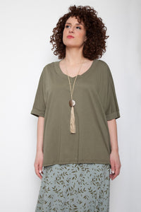 Blouse with earthy colours