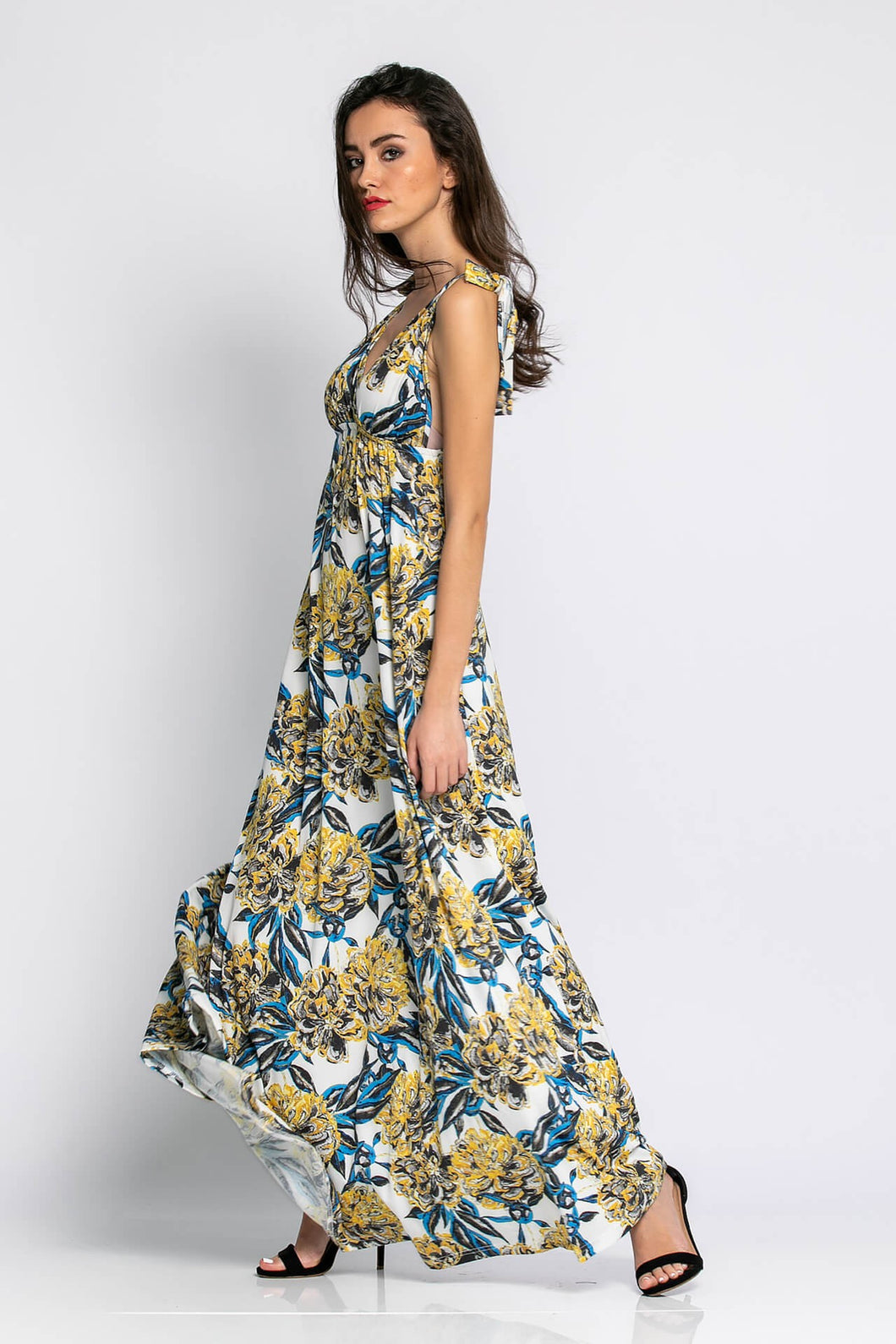 Floral dress with thin straps
