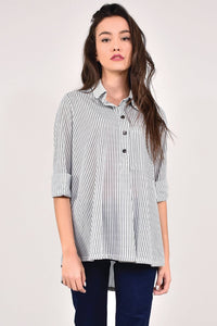 Striped Shirt with pocket