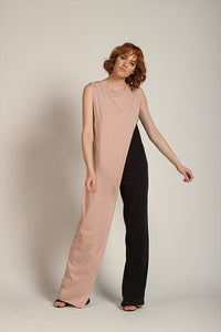 Jumpsuit with two colours