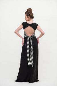 Maxi dress striped