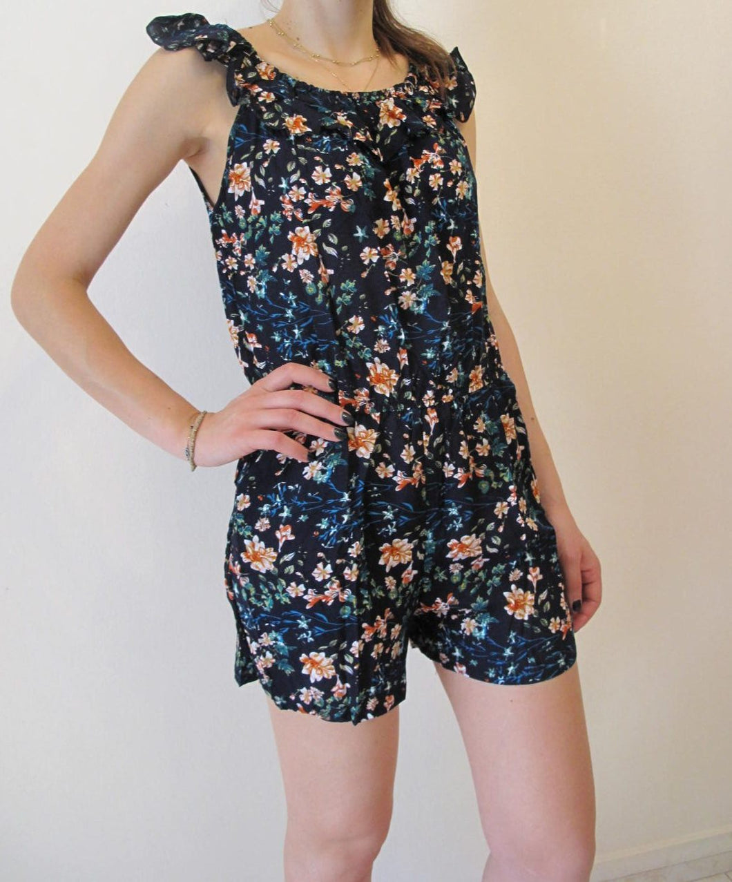 Onepiece floral shorts