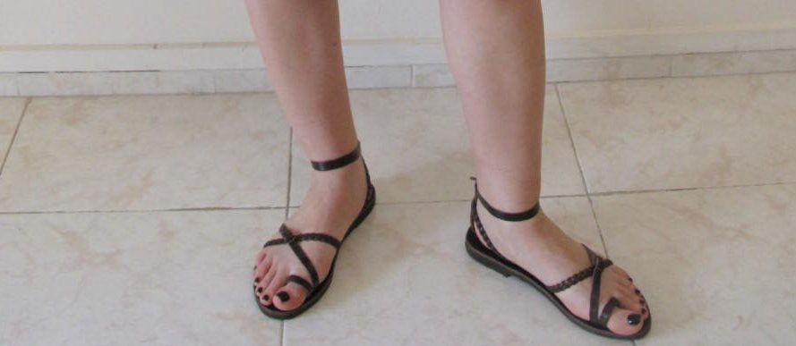 Sandals brown colour