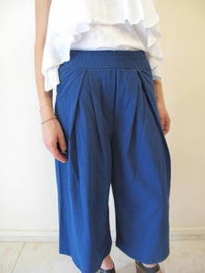 Loose 7/8 cotton trousers