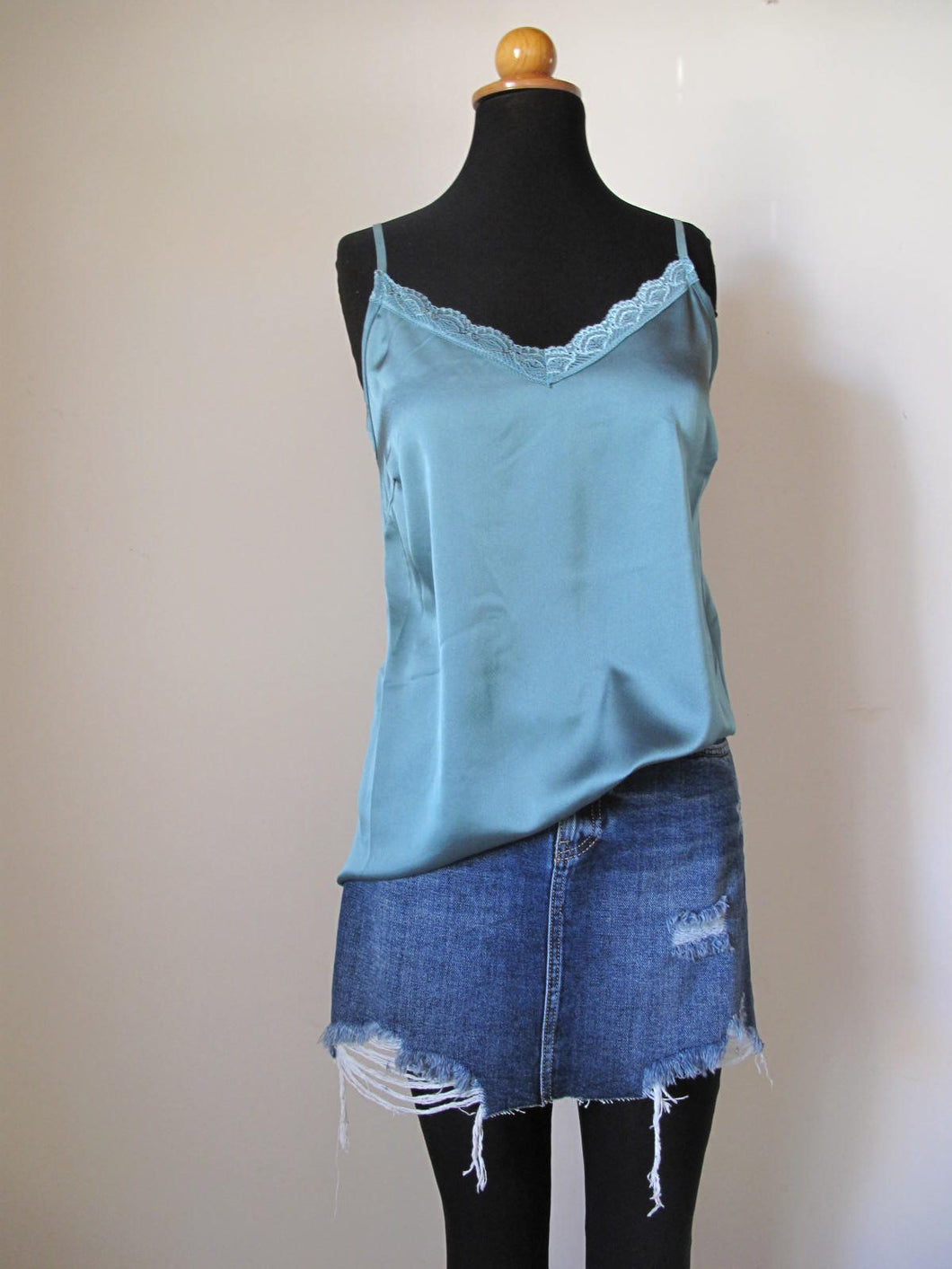 Jade blouse with thin strap