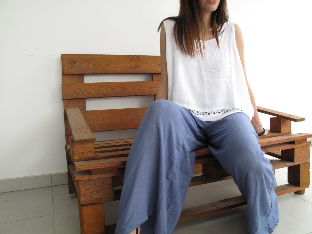 Baggy trousers linen