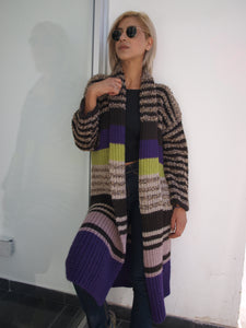 Multicolour cardigan long