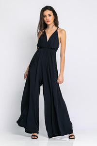 Jumpsuit with opening in the back