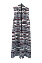 Load image into Gallery viewer, Sleeveless striped knitted cardigan