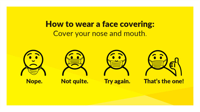 Face Masks are back in the news with further advice from Government.