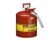 Steel Safety Can, 5 Gallon with 1 inch metal hose