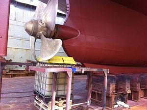 IBC Spill Saver under ship propeller