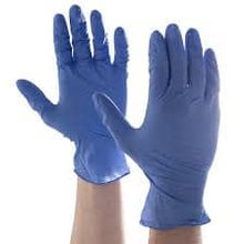 Load image into Gallery viewer, Nitrile disposable gloves on hands