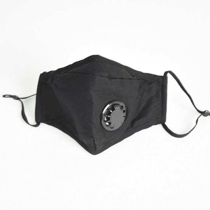 reusable face mask black