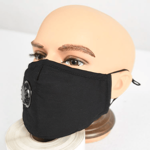 reusable face mask on mannequin head