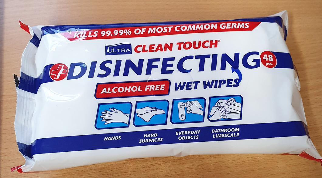 Ultra clean disinfectant wipes alcohol free pack of 48